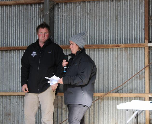 Simon and Hilary Vallely talk about their goals in the dairy industry at the Southland-Otago...