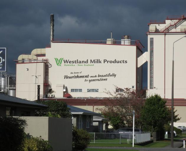 Westland Milk Products' factory in Hokitika. PHOTO: SUPPLIED