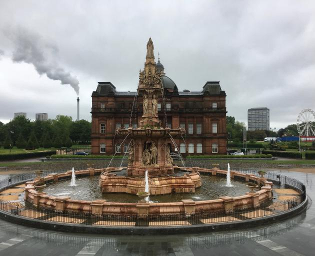 The Doulton Fountain, designed to commemorate the Queen's Golden Jubilee in 1887 along with the...