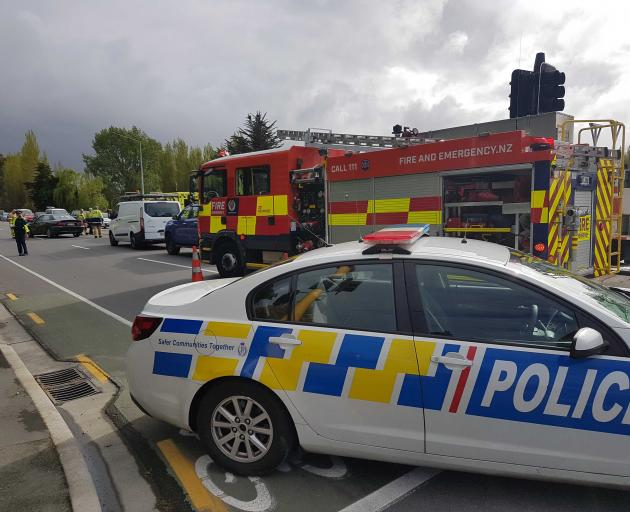 Traffic has been diverted after a crash at a busy Christchurch intersection.