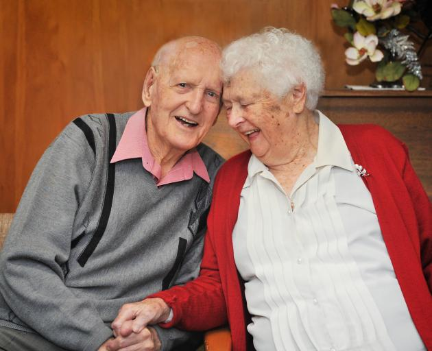 Allan Rennie (95) and his wife Dorothy (90) celebrate 70 years of married life at an afternoon...