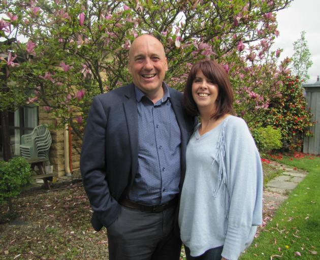 Returning Central Otago Mayor and Mayoress Tim and Linda Cadogan celebrate Mr Cadogan's re...