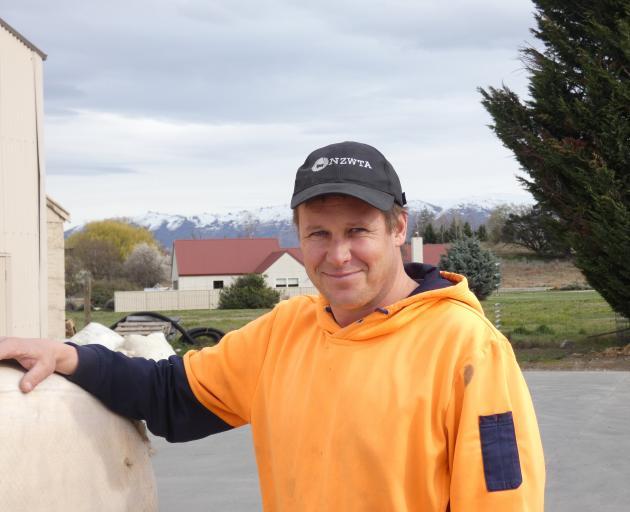 Omakau wool buyer Hayden Hickey, of WS Hickey & Son Ltd. PHOTOS: ADAM BURNS