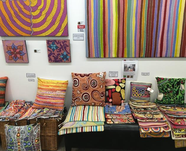 Art and craft at Darwin's Mbantua Gallery shows the variety of styles of Aboriginal artists....