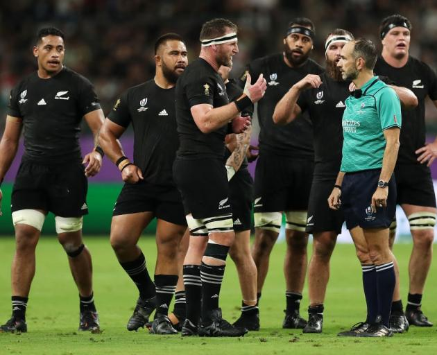 An Irish writer has suggested Romain Poite could have given the All Blacks three cards in their...