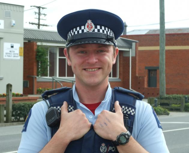Constable Will Pentelow, happy to help in a time of crisis. Photo: ODT.