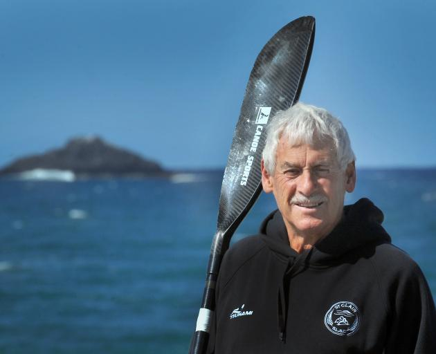 Bart Smaill gets ready to race in the White Island race on Saturday from St Clair Beach. PHOTO:...