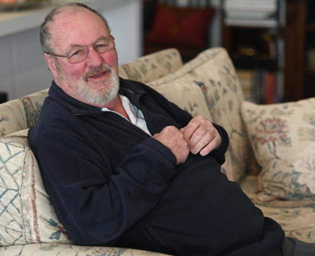 Otago Daily Times golf writer Bill Trewern discusses his career earlier this week. PHOTO: LINDA...