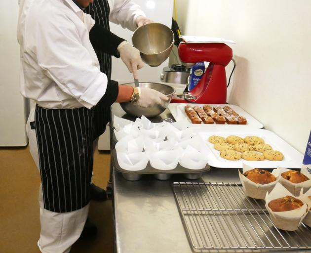 Otago Corrections Facility catering programme participants prepare lunches for Milton schoolchildren. Photo: Department of Corrections