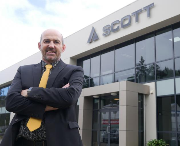 Scott Technology managing director Chris Hopkins outside the tech company's newly expanded...