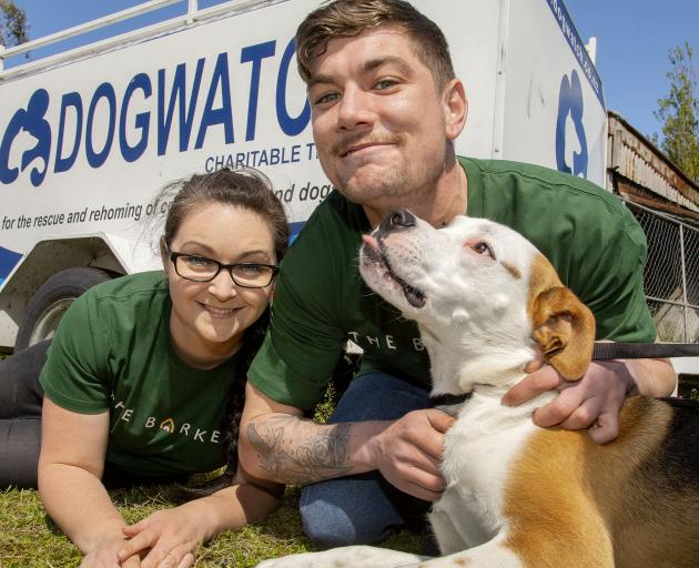 Rescue dogs needing adoption will have hopeful futures when Ally Mullord and Jack Penniket open...
