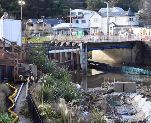 The Otago Regional Council is hoping its construction site at the Dundas St bridge will remain...