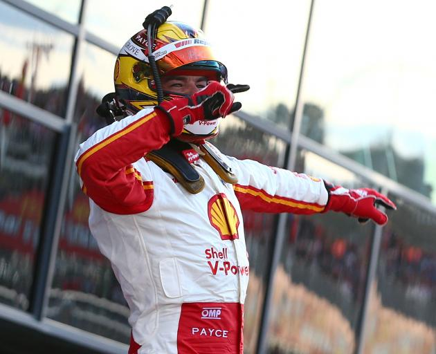 Scott McLaughlin celebrates his dramatic Bathurst victory. Photo: Getty Images