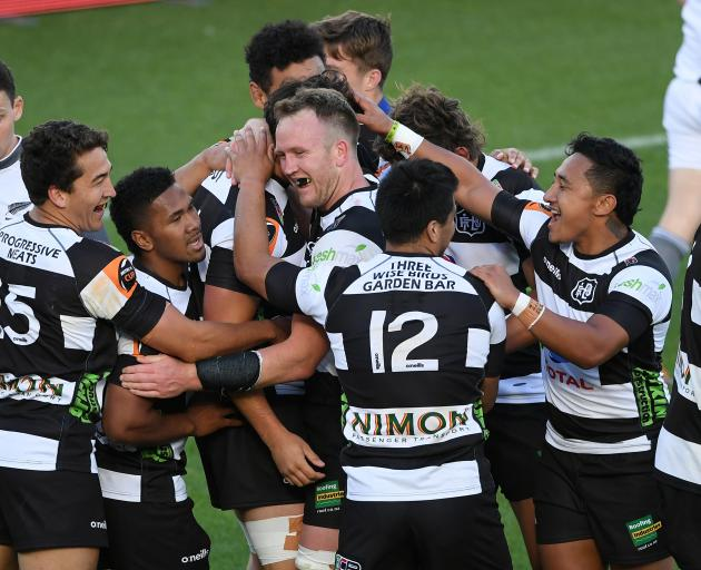 Hawke's Bay celebrate during their semi-final win over Otago in Napier today. Photo: Getty Images