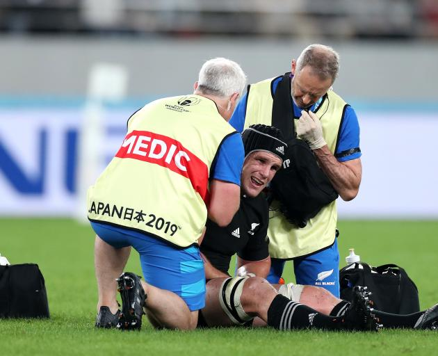 Matt Todd will miss the World Cup semifinal after injuring his shoulder against Ireland. Photo:...