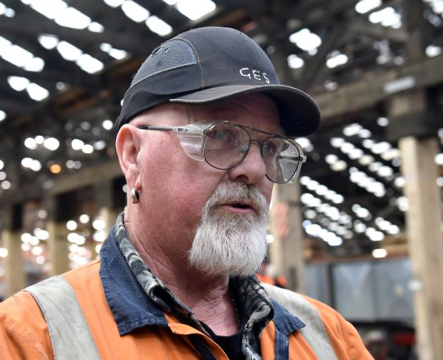 Hillside mechanical engineer Graeme Sayer is overjoyed to see investment in his workplace. Photo: Peter McIntosh