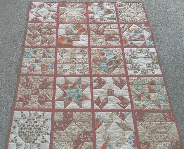 Patchwork quilts will be exhibited at the Cust Craft Group's display on Sunday, November 3.