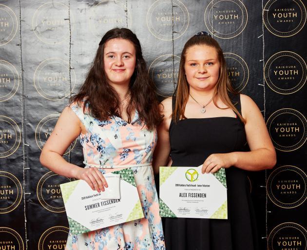 Summer Fissenden, left, and Alex Fissenden were the junior volunteering award winners in the...