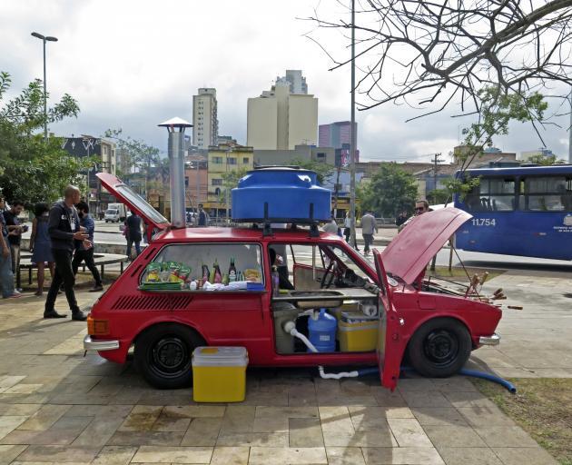 OPAVIVARA!'s Brasa Island, Sao Paulo, URBE Exhibition in Potato Square in 2018. Photos: Supplied