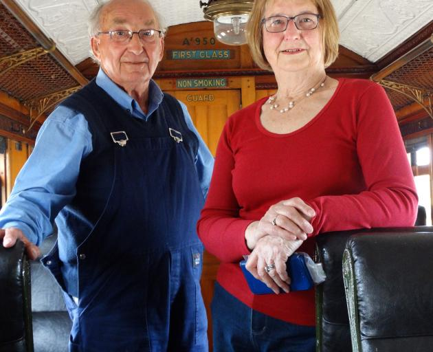 Enjoying the day are trust chairman Colin Smith and wife Mavor. PHOTOS: MARK PRICE