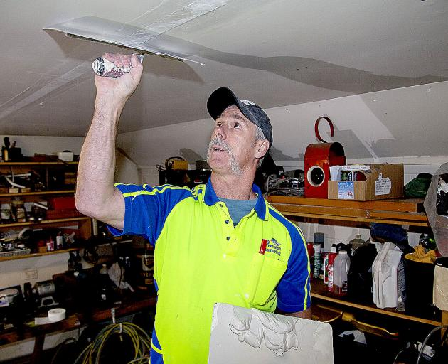 Mike Dorreen has been working as a plasterer for 25 years. Photo: Geoff Sloan