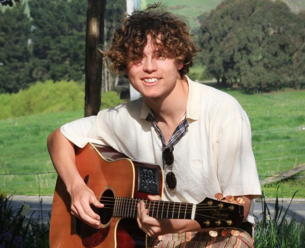 Oamaru singer-songwriter Ethan Downing (15) is set to give his second ``Made in the Waitaki'' performance at the Oamaru Opera House tonight. Photo: Hamish MacLean