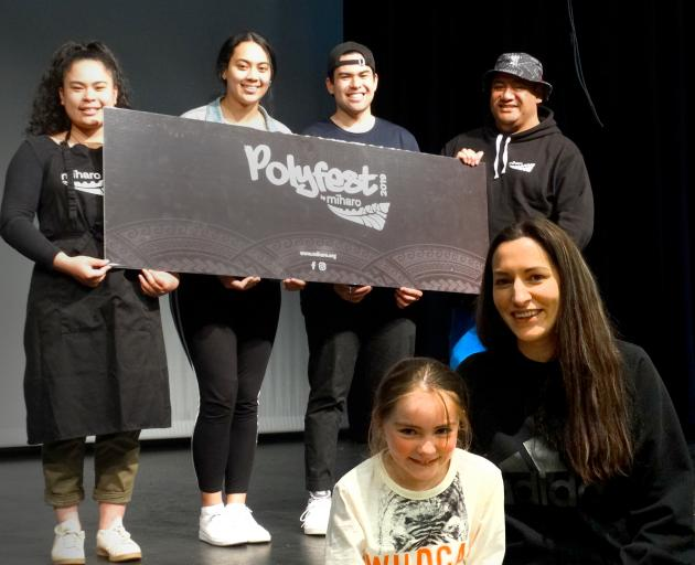 Central Lakes Polyfest co-organiser and Miharo business development manager Mandy Smith, front...