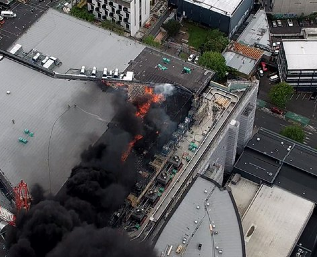 Fire rages in Auckland SkyCity Convention Centre