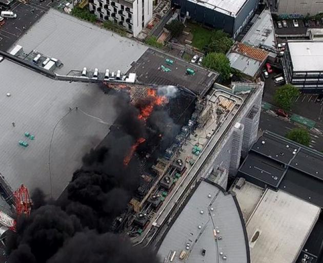 An aerial image of the blaze. Photo: Niwa