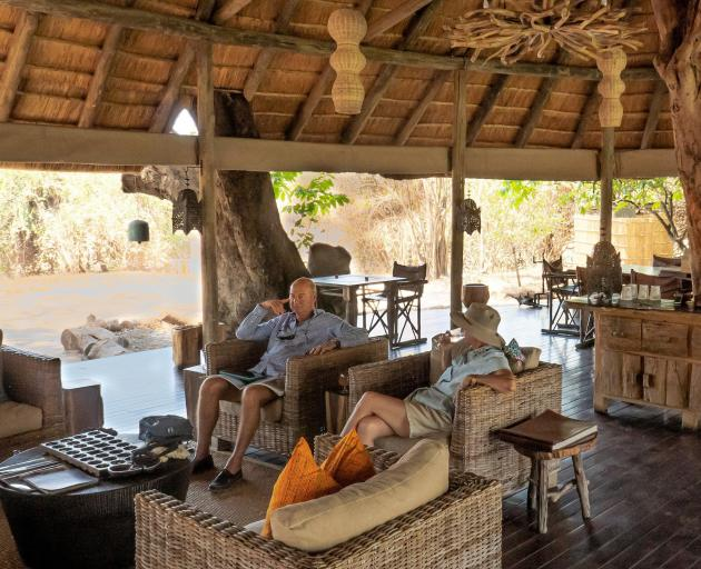 Bilimungwe Lodge, more rustic comfort home-made in Africa, crafted out of logs, planks, reeds and...
