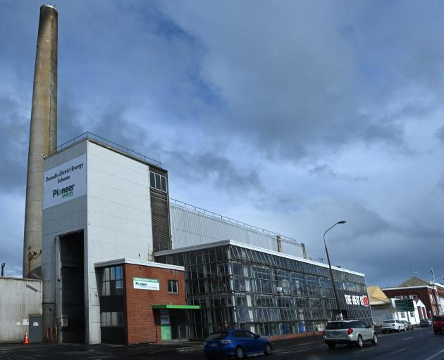 Plans are in place to replace the coal-fired Dunedin Energy Centre in Castle St with an expanded scheme to help heat central Dunedin buildings. Photo: Linda Robertson