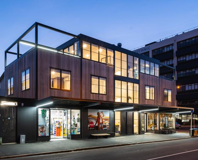Dunedin's campus dairy, Fluid Cafe and apartment building, designed by Gary Todd, of Gary Todd...