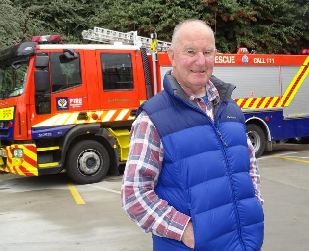 Former Queenstown Volunteer Fire Brigade chief fire officer Bob Robertson (80), whose 60 years'...