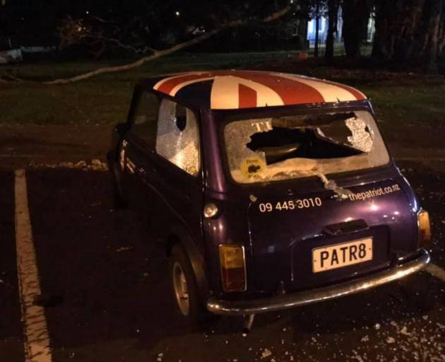 Devonport pub The Patriot's beloved car Myrtle was smashed up overnight following the All Blacks'...