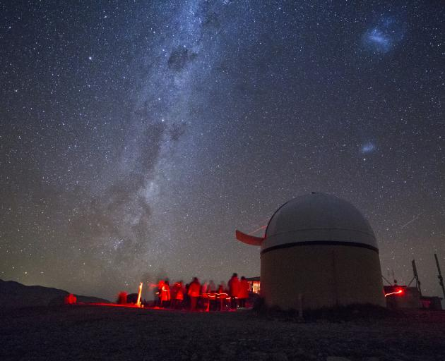 A stargazing tour at the Mt John Observatory, Mackenzie Basin. Photo: Maki Yanagimachi