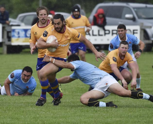 North Otago's Taina Tamou runs with the ball against East Coast at Ruatoria on Saturday. PHOTO:...