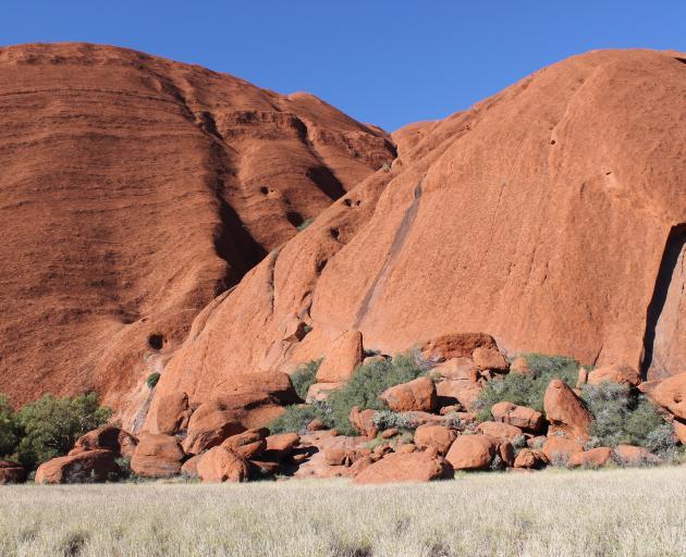 Uluru seen from the base perimeter walk. Photo: Kerrie Waterworth