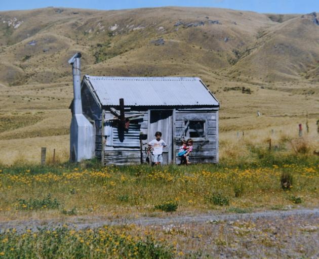 The musterer's hut at Deep Stream was razed by the fire. Photo: Supplied
