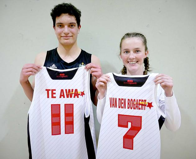 Middleton Grange players Trey Te Awa and Katie van den Bogaert will play in the Canterbury high...