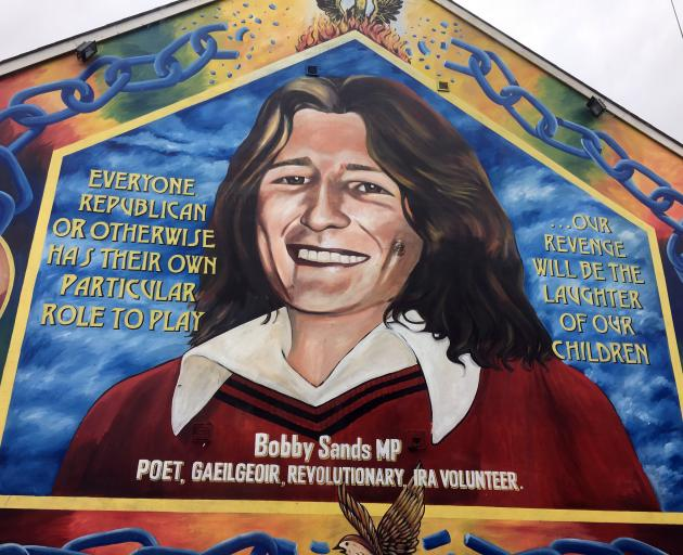 A memorial wall for Bobby Sands in Belfast.