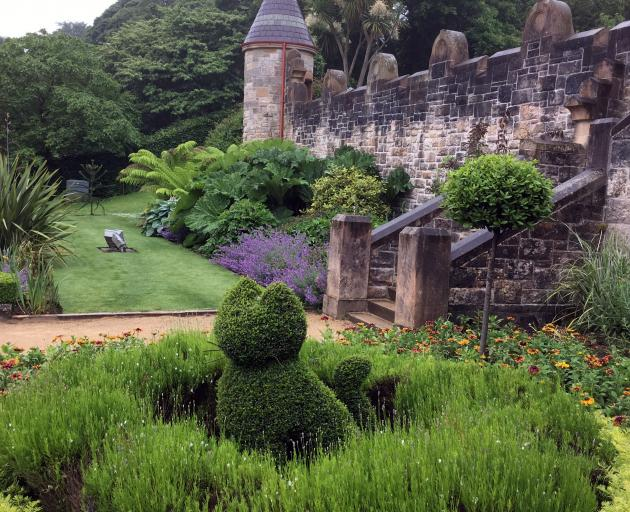 Dotted around Belfast Castle's garden are nine different cat features to discover.