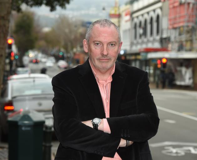 George St business owner Brent Weatherall is angry about the proposed changes to George St. PHOTO...