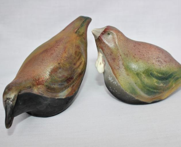 """Christine Davey's ceramic birds titled """"Feathers in Focus"""" will be exhibited alongside..."""