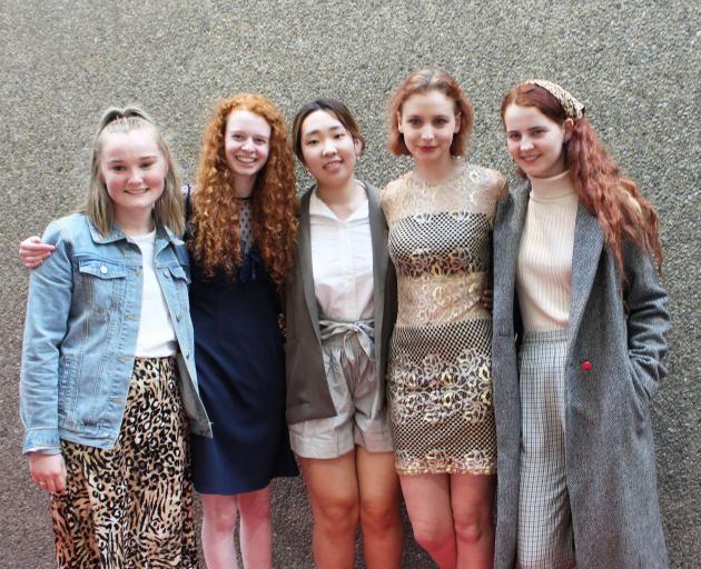 Christchurch Girls' High friends (from left) Connie Fitzgerlad, Anna Champion, Louise Kim, Freya...