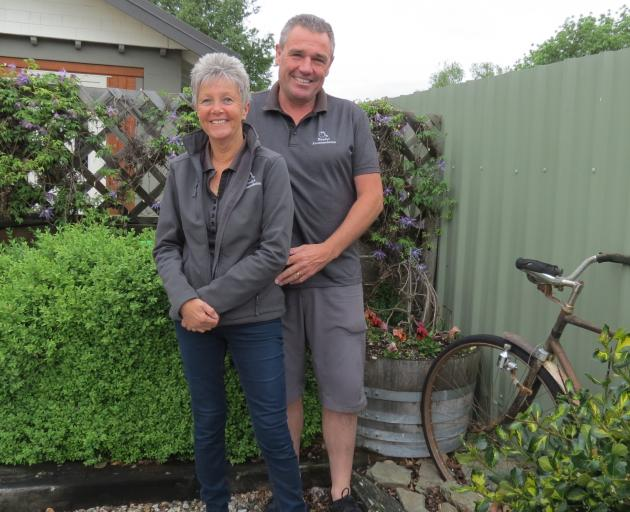 Omakau business people Mandy Stevenson and Colin Stevenson, who is also the Omakau Ratepayers Association chairman, consider how much busier Omakau is getting, both with tourist numbers from the Otago Central Rail Trail and from a subdivision that brought