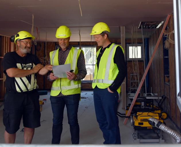 High Street Co-housing site foreman Bill Lammers (left), Stevenson and Williams Ltd managing...