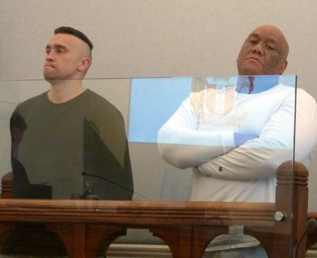 Samuel Cook (left) and Boycee Karetu pleaded guilty to conspiring to commit an aggravated robbery...