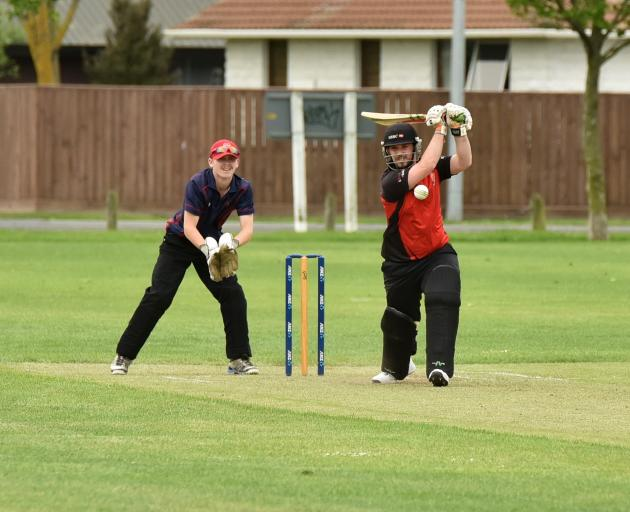 Lincoln's Adam Coleman at the crease during their four-wicket loss to Southbrook on Saturday. Photo: Karen Casey.