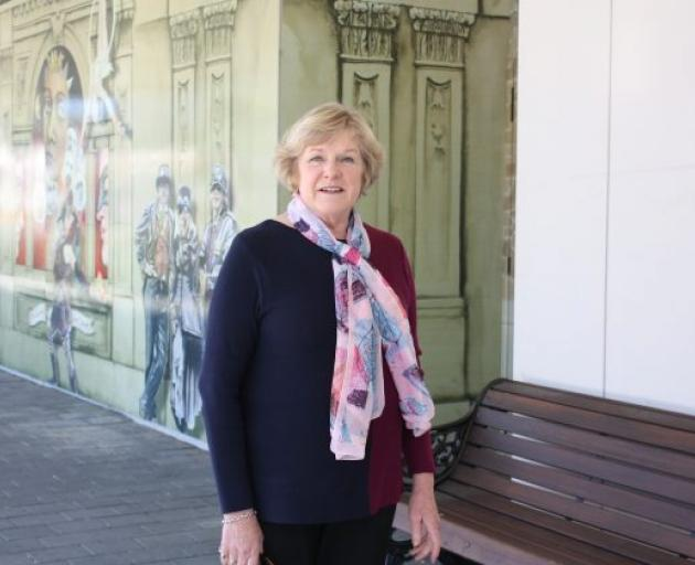 Diana McKay outside the site of her old hairdressing salon, which now forms part of Countdown....