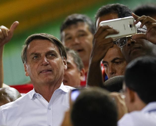 Brazil's far-right President Jair Bolsonaro. Photo: Getty Images